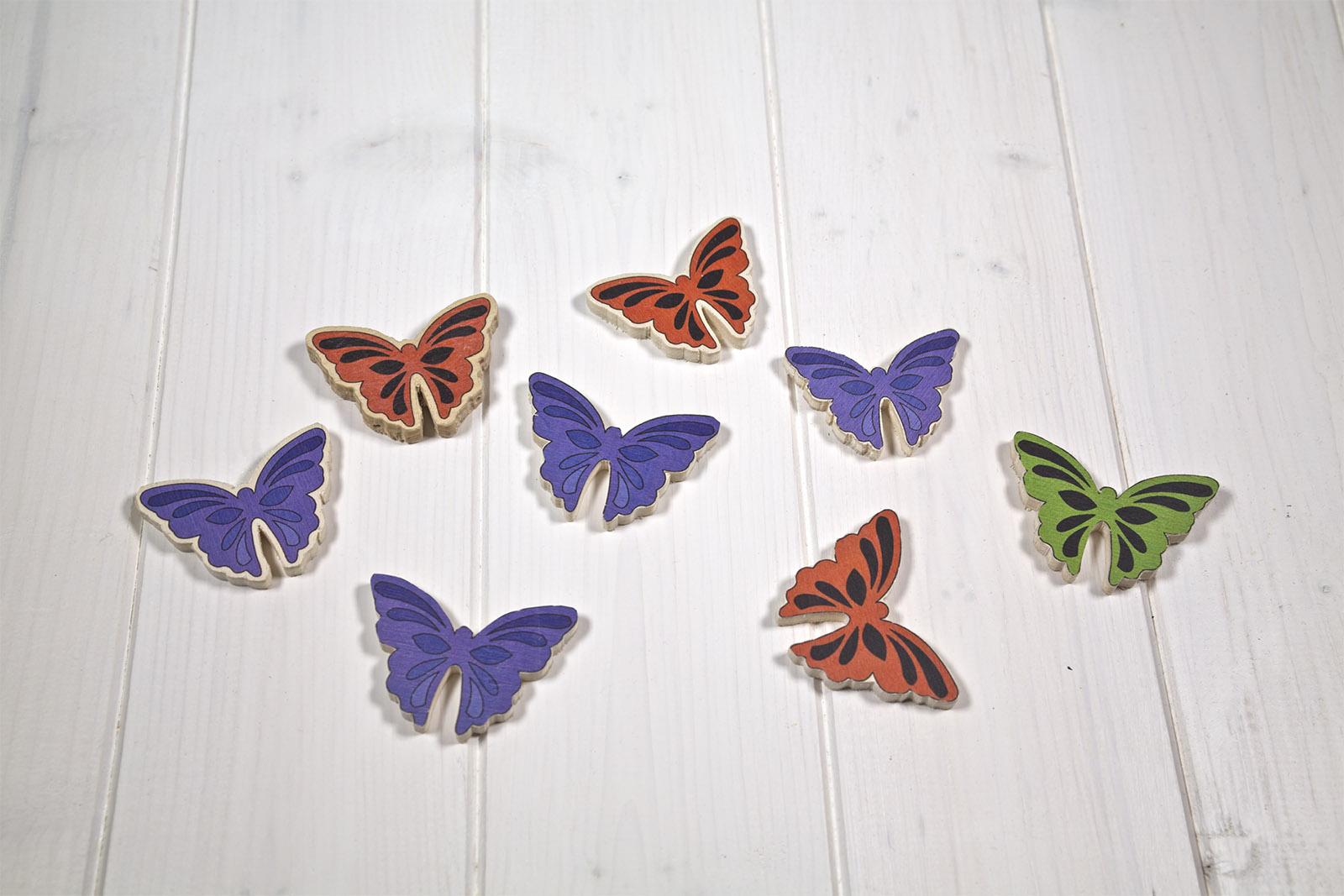 Calamite Di Legno Sagomate - Forma Di Animali - Farfalle