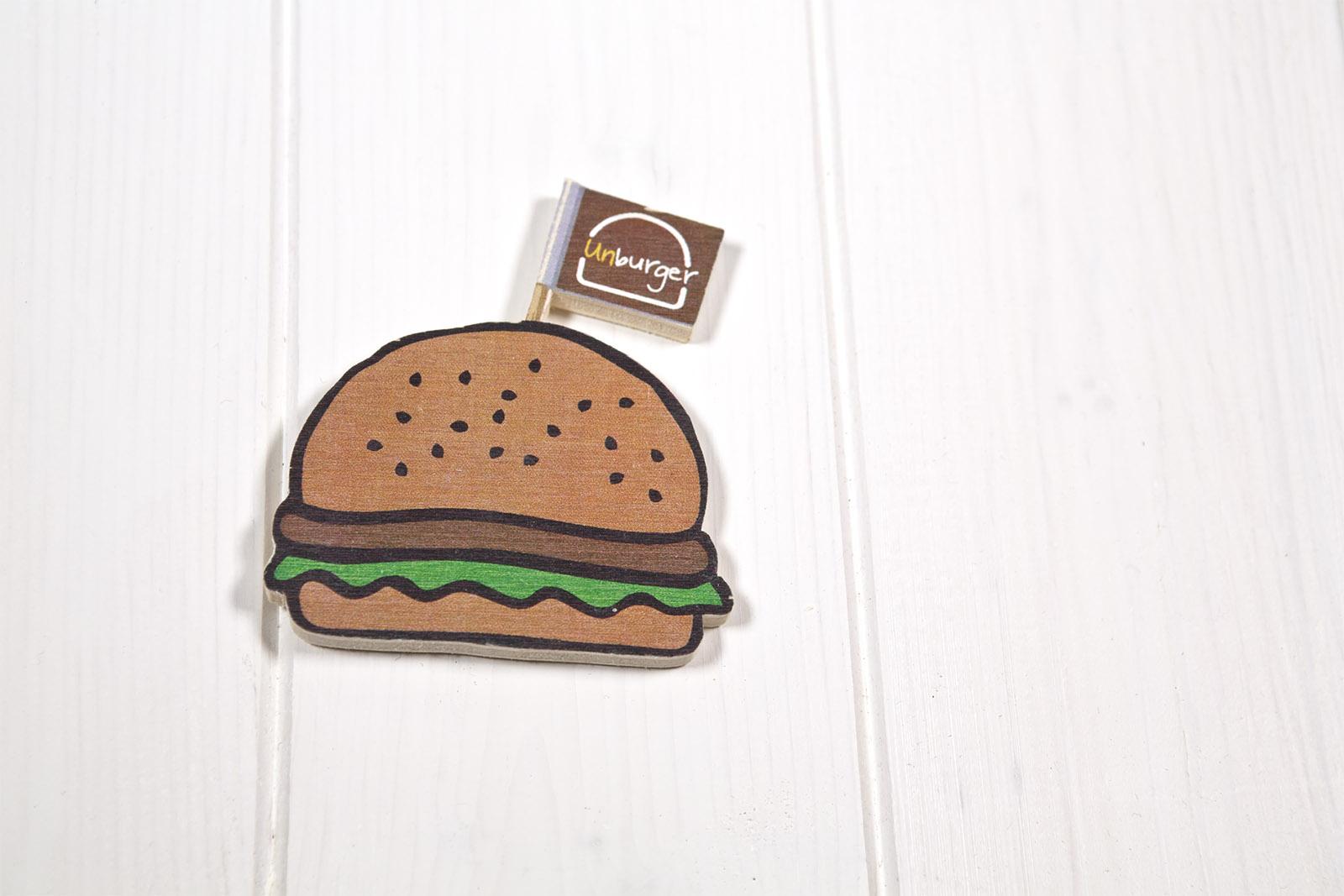Calamite Di Legno Sagomate - Forma Di Hamburger