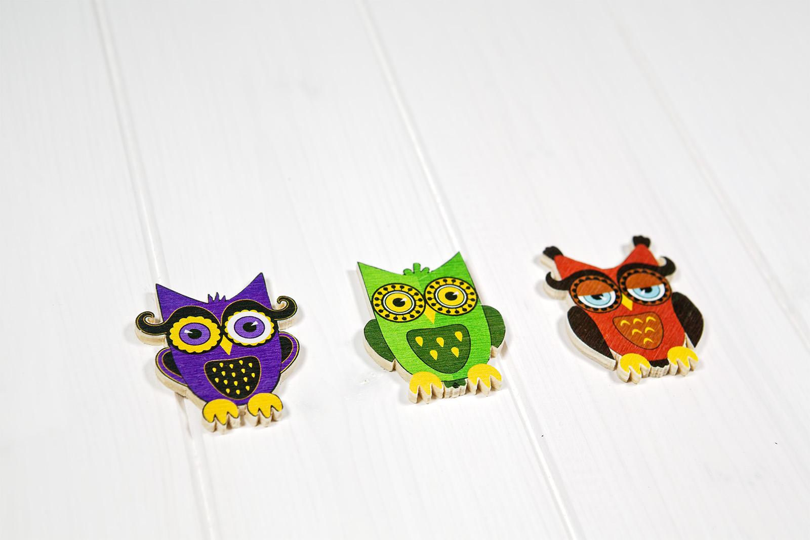 Calamite Sagomate A Forma Di Gufo - Owl Magnet