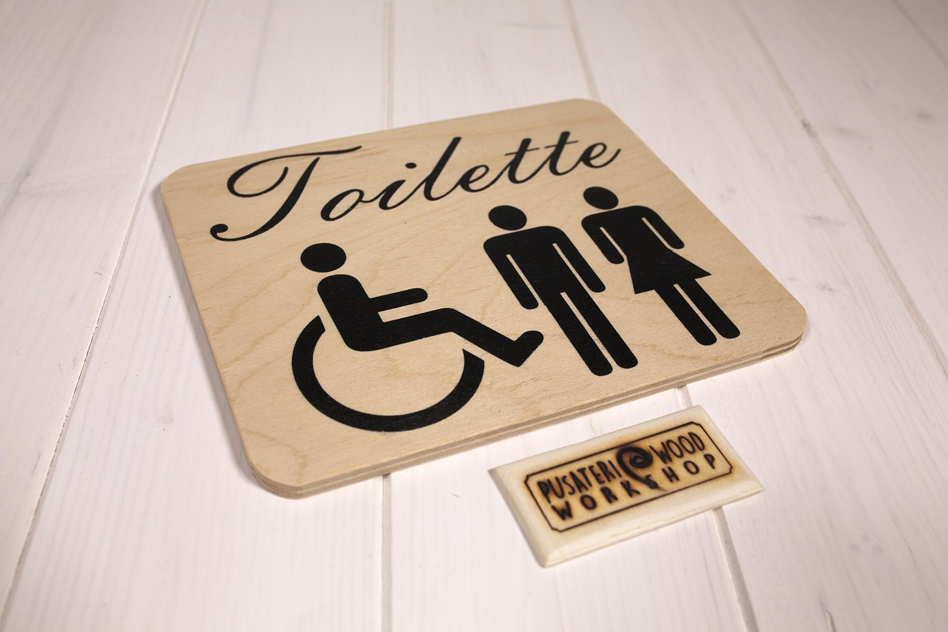 Insegne Di Legno - Toilette