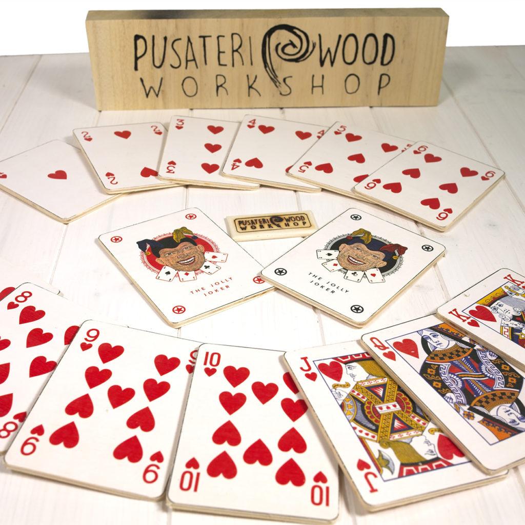 Sottobicchieri di legno carte francesi artigianali fatte a mano