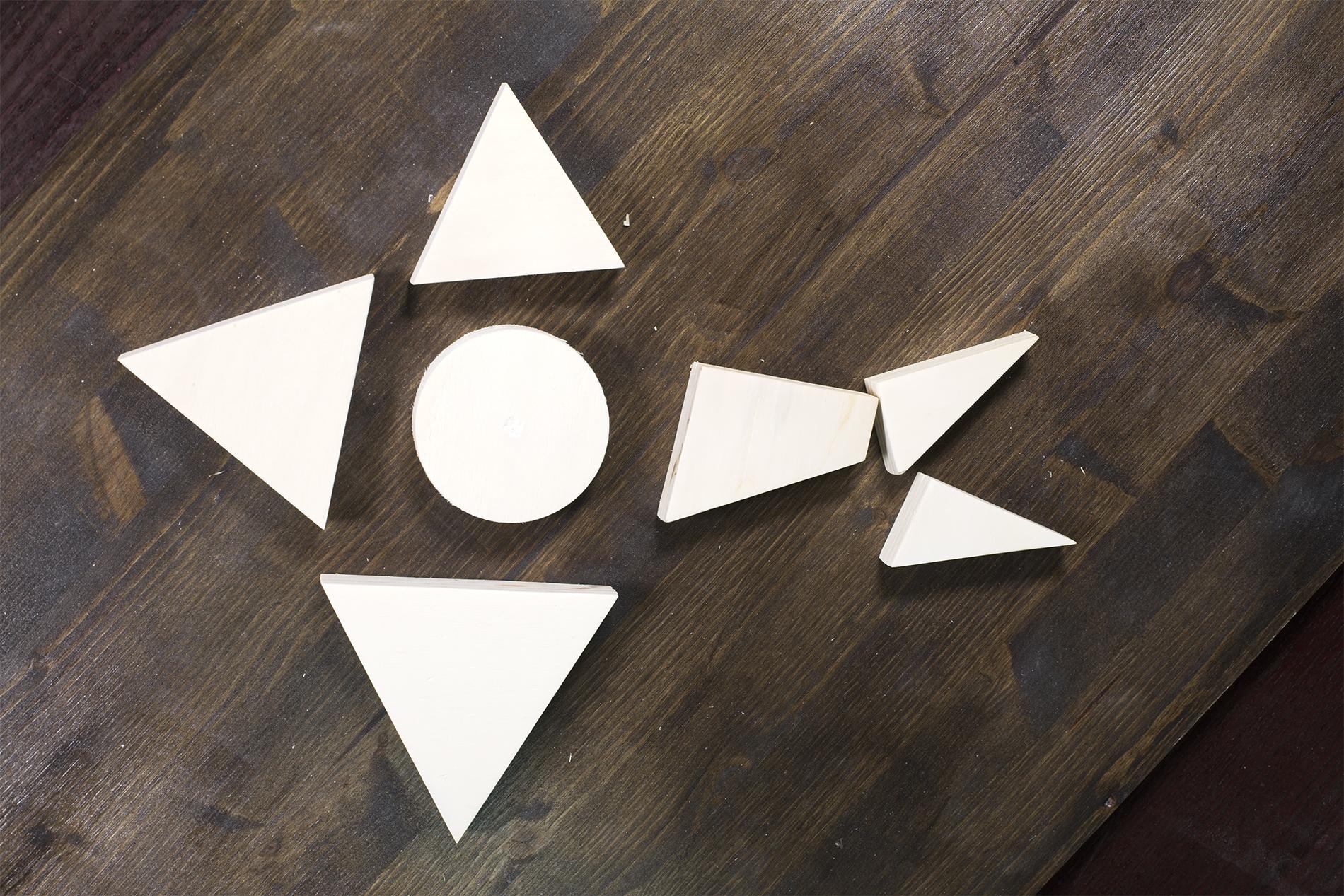 Figure Geometriche Fatte Di Legno - Pesce