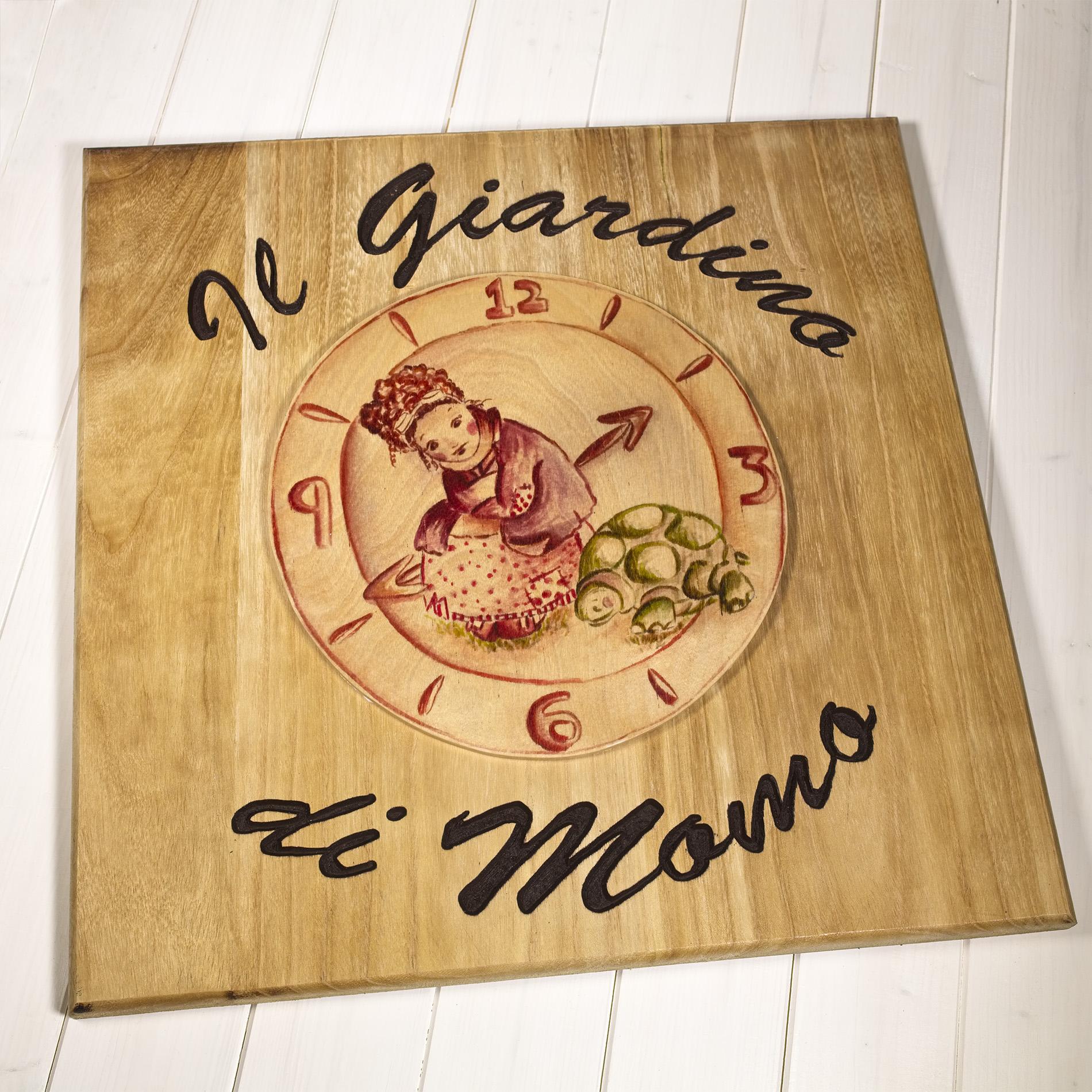 Insegna di legno Giardino di Momo