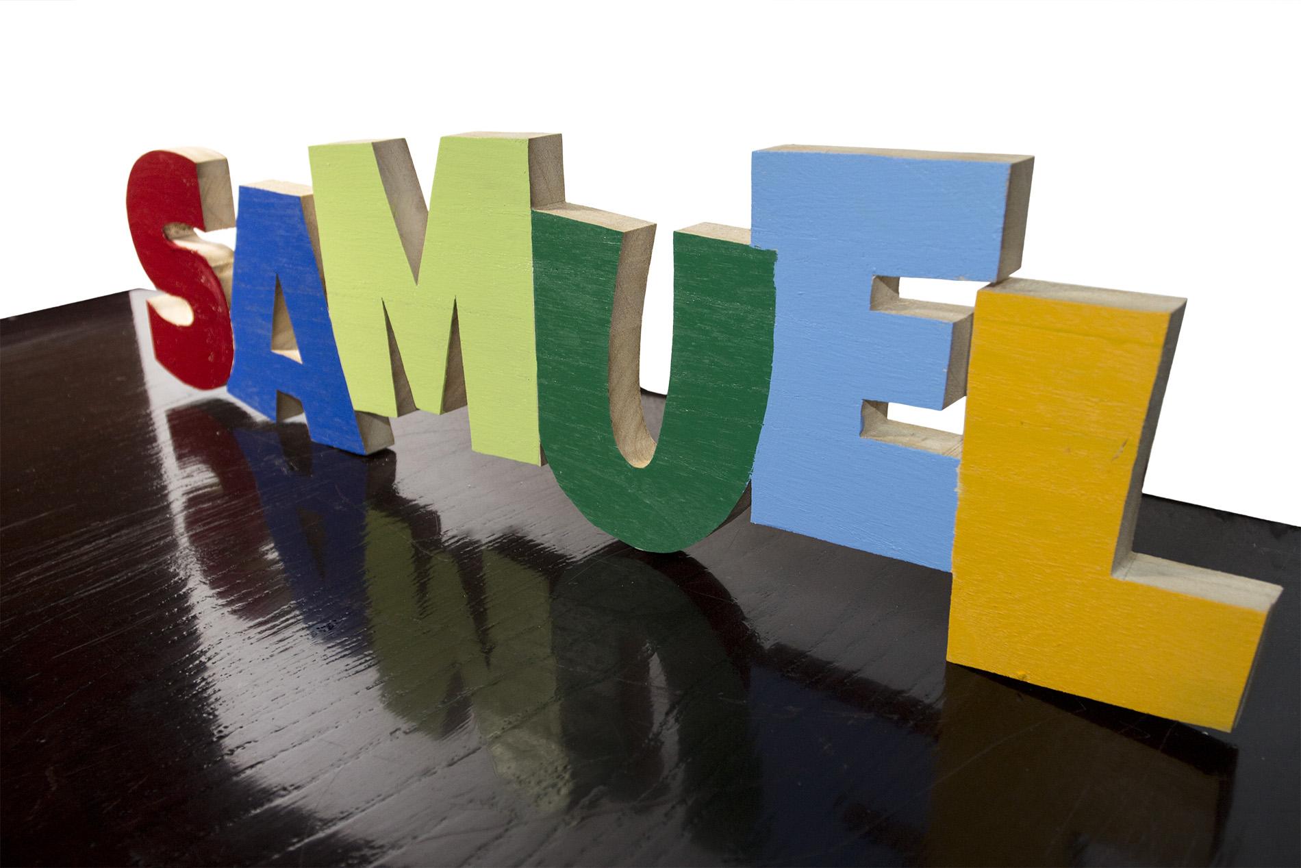 Nomi Di Legno Per Bambini - Lettere Sagomate