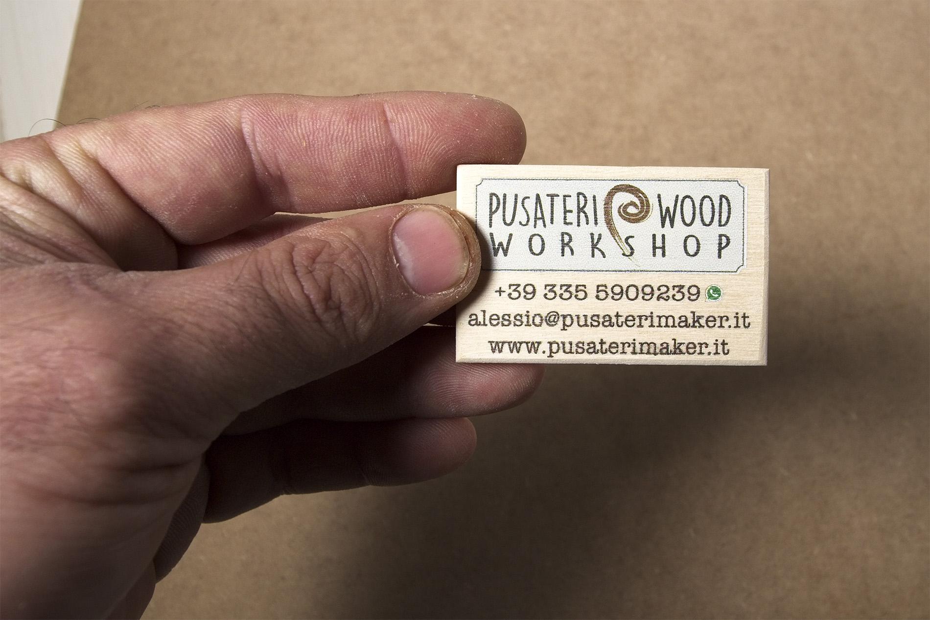 Legnetti Da Visita - Wooden Business Card - Biglietti Da Visita Di Legno