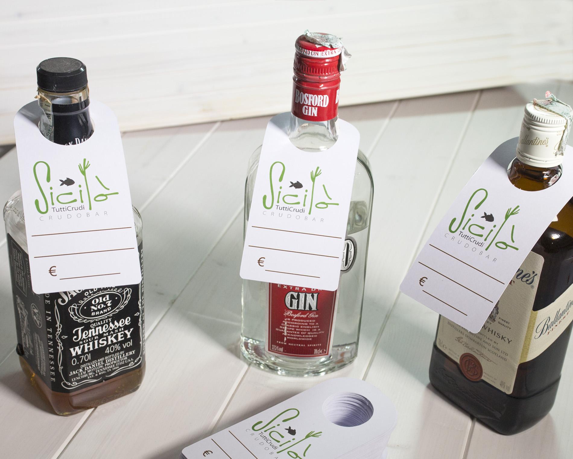 Collarini Per Bottiglie In Cartoncino Personalizzabili
