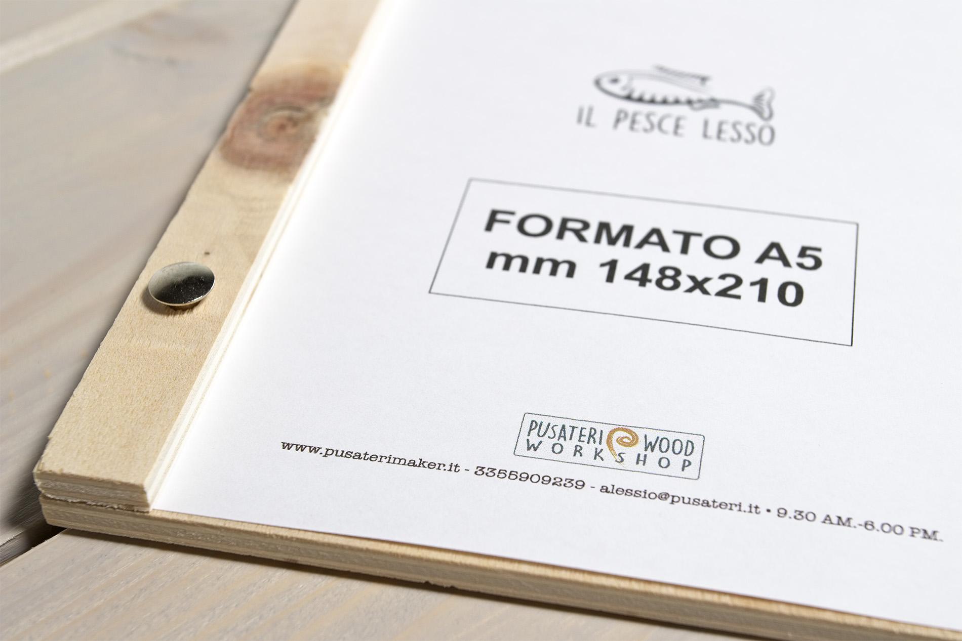 Portamenu A5 In Legno San Lorenzo