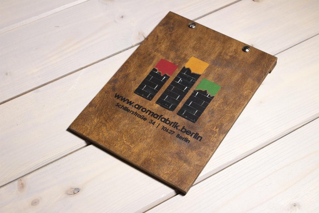 Kemonia portamenu in legno per fogli A5