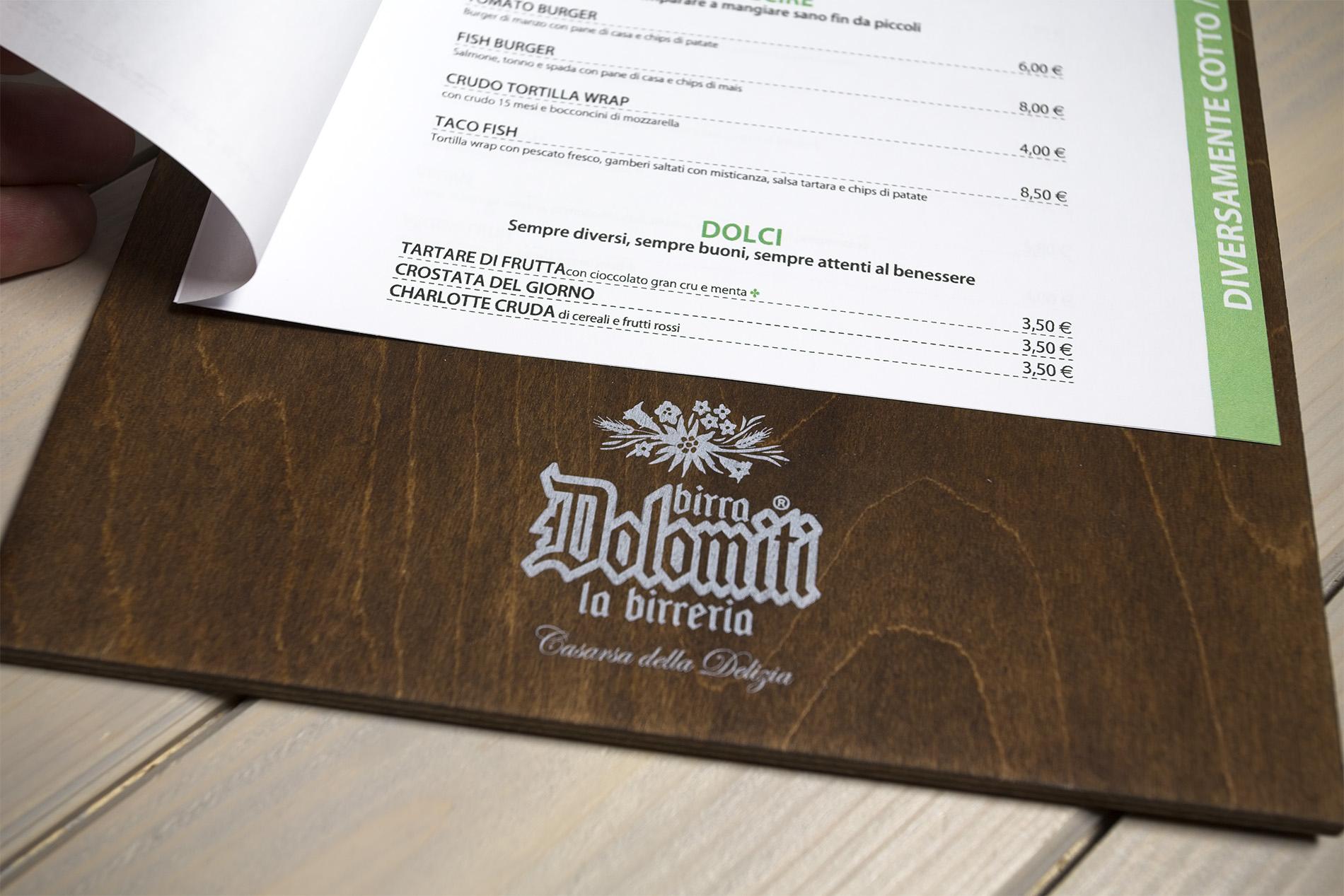 Portamenu In Legno A 2 Anelli Mondello