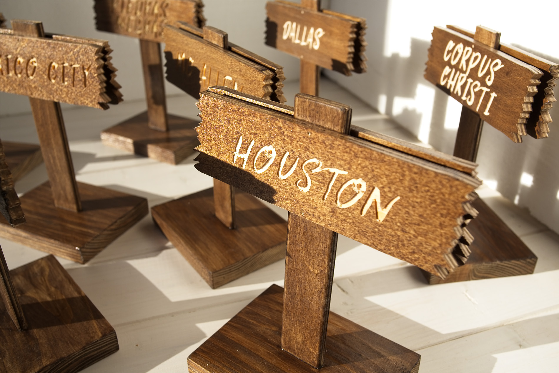 Segnatavolo Segnaposto Wild West - Houston