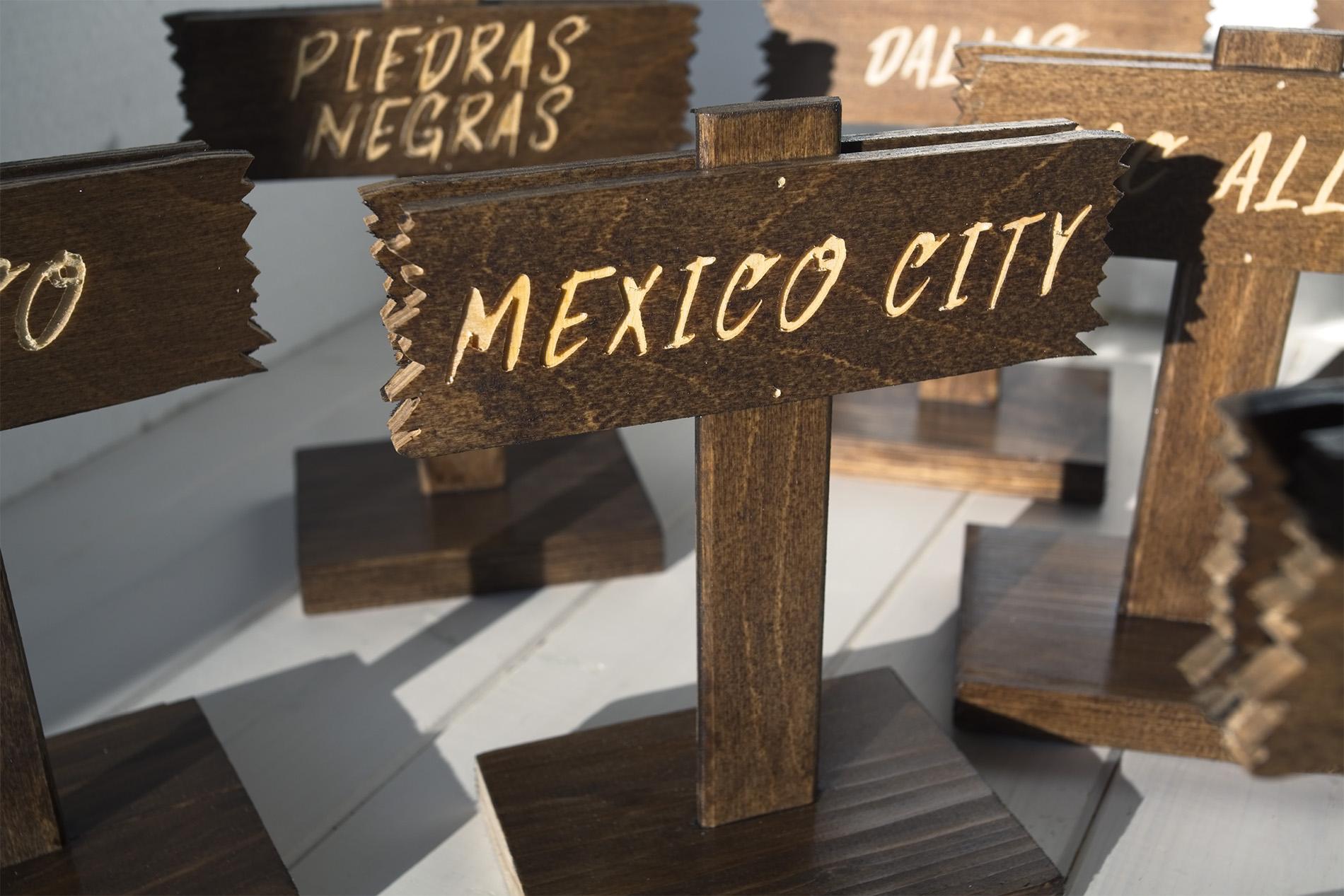 Segnatavolo Segnaposto Wild West - Mexico City