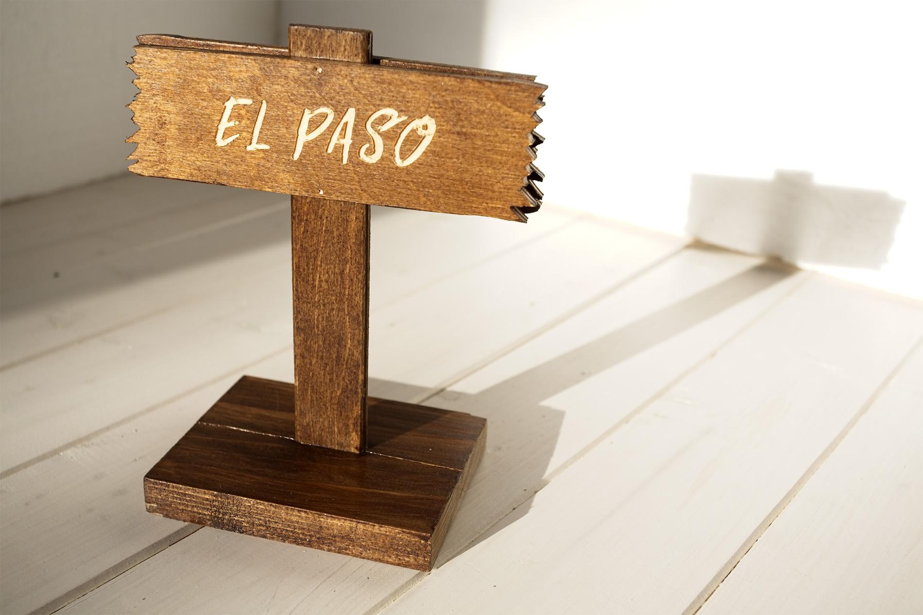 Segnatavolo Segnaposto Wild West - El Paso