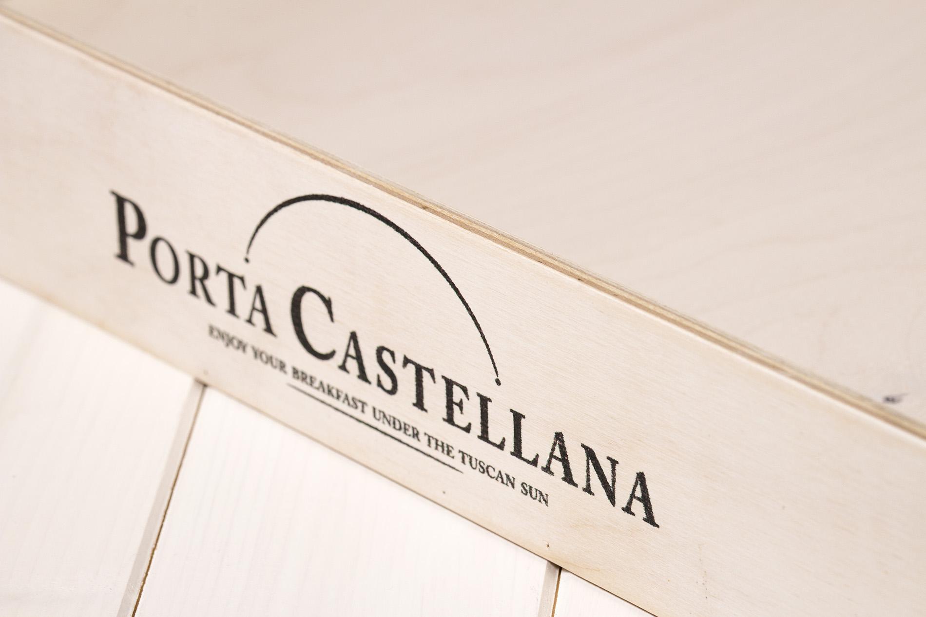 Vassoio Cassetta Porta Castellana Montalcino