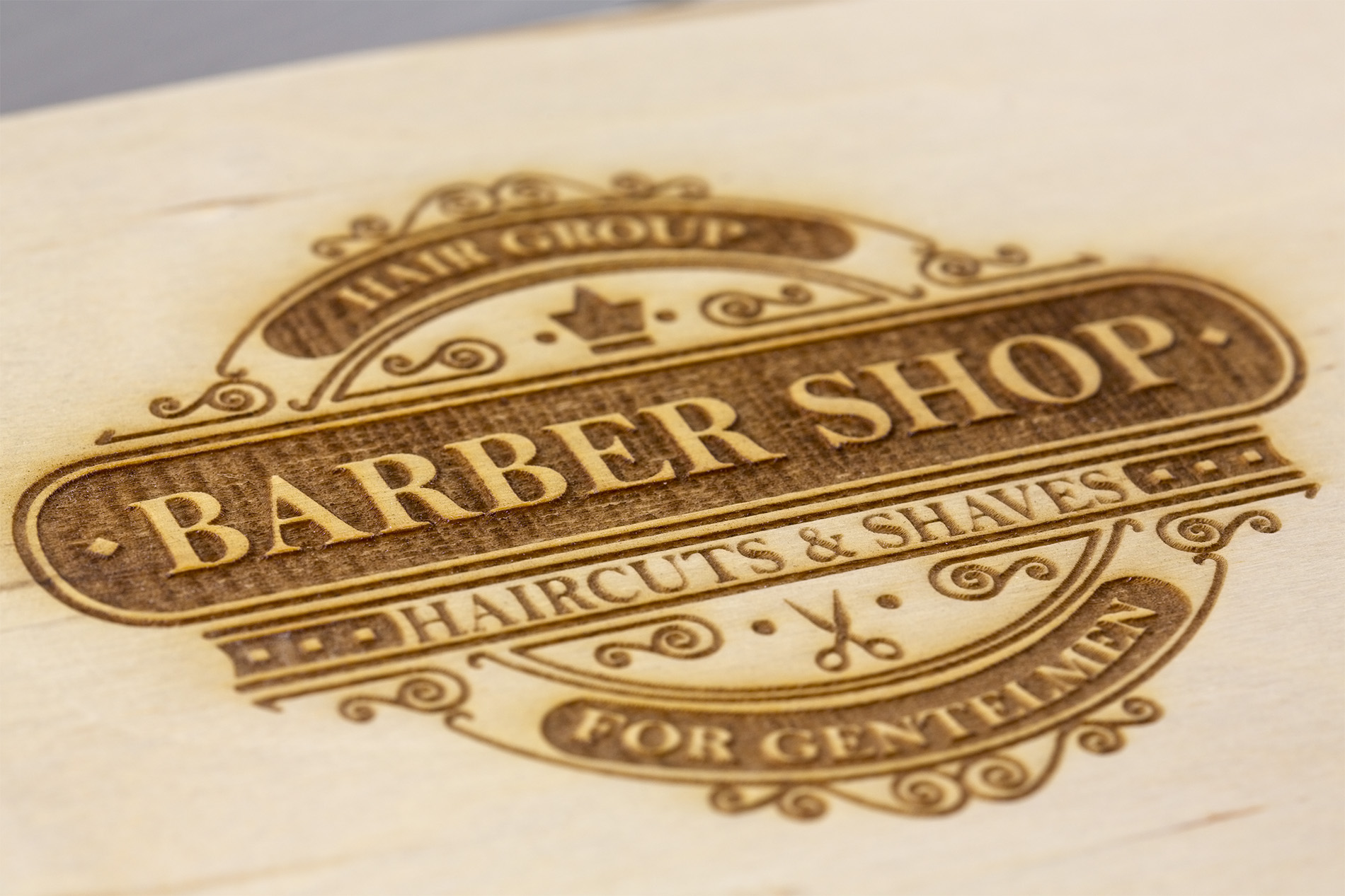 Logo Inciso Al Laser Barber Shop