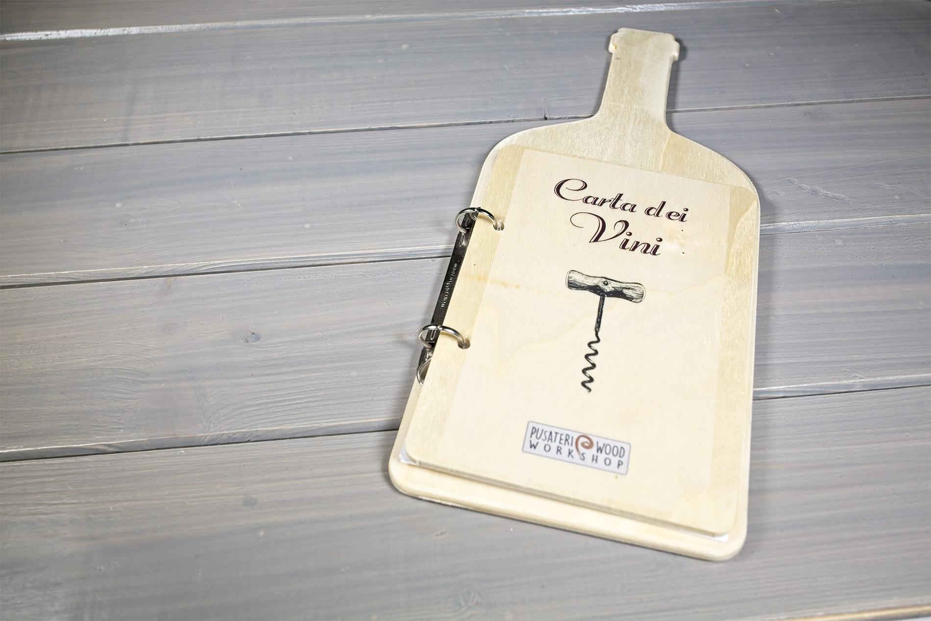 Carta Dei Vini Forma Di Bottiglia