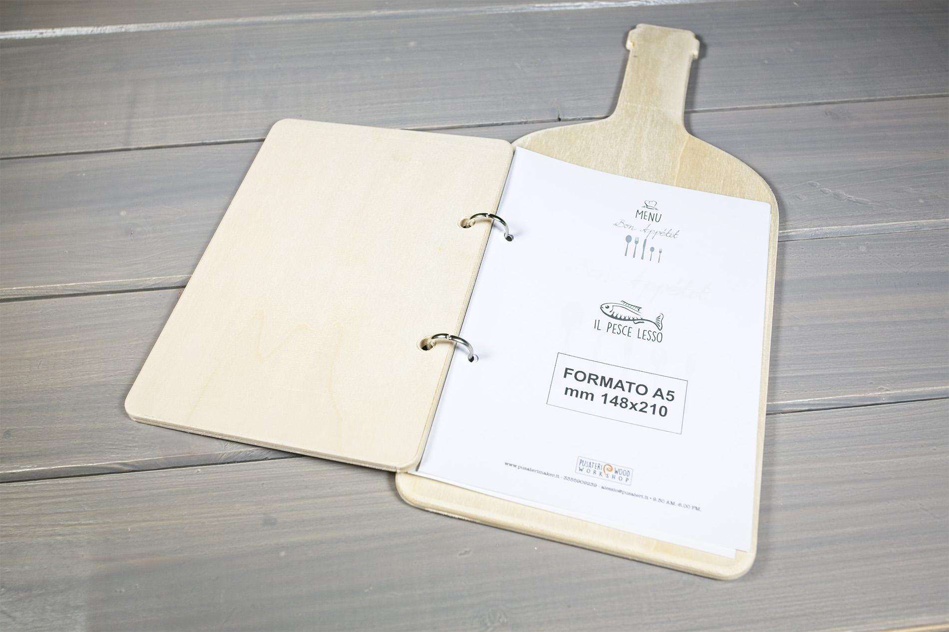 Portamenu Forma Di Bottiglia