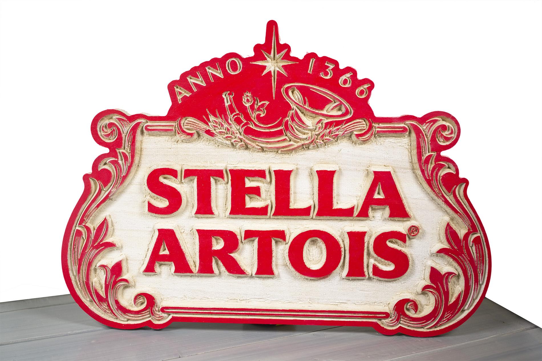 Insegna Stella Artois Di Legno