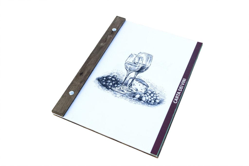 Portamenu Settecannoli con viti a scomparsa per foglio A4 a bordo filo