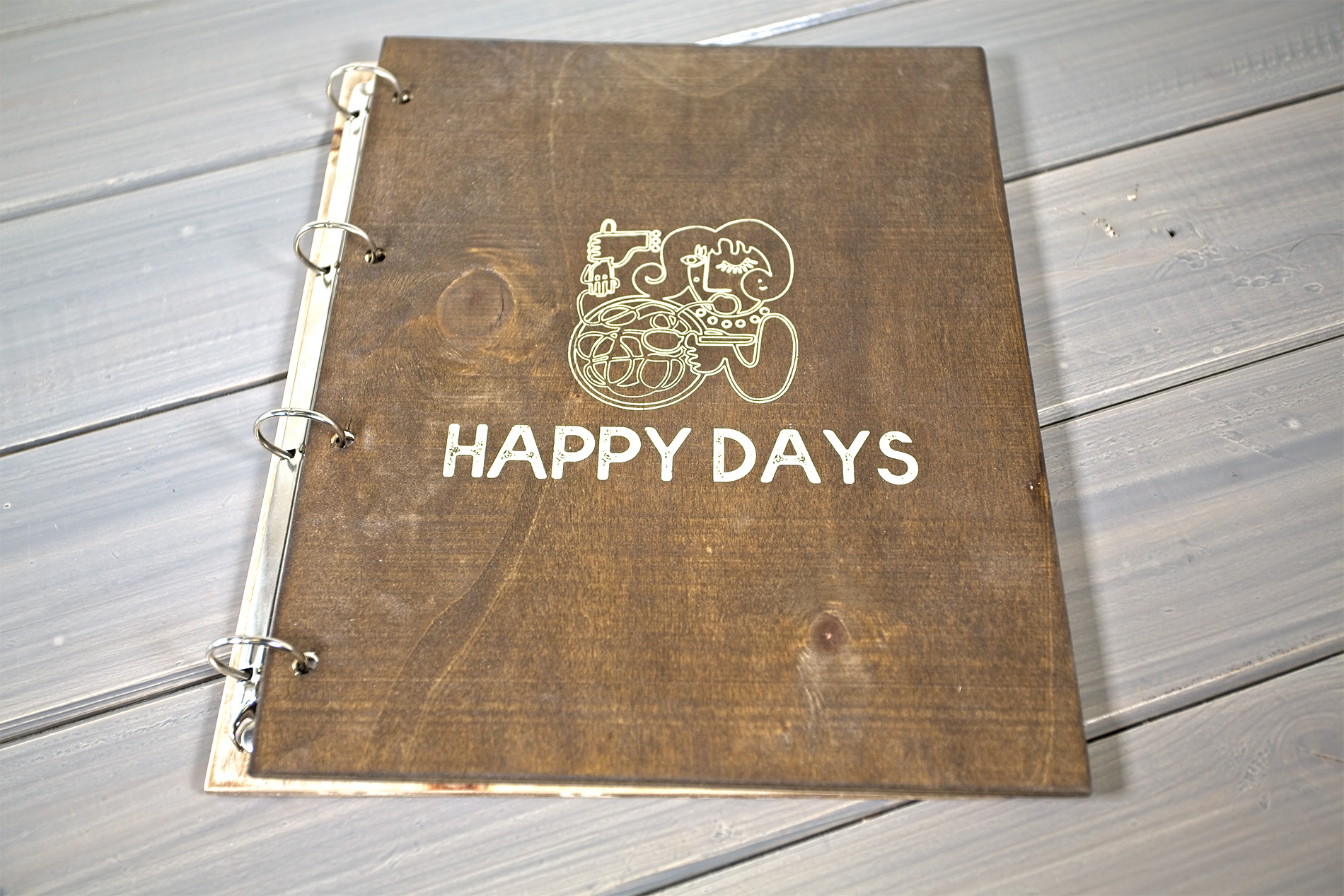 Portamenu Sperone Ristorante Happy Days
