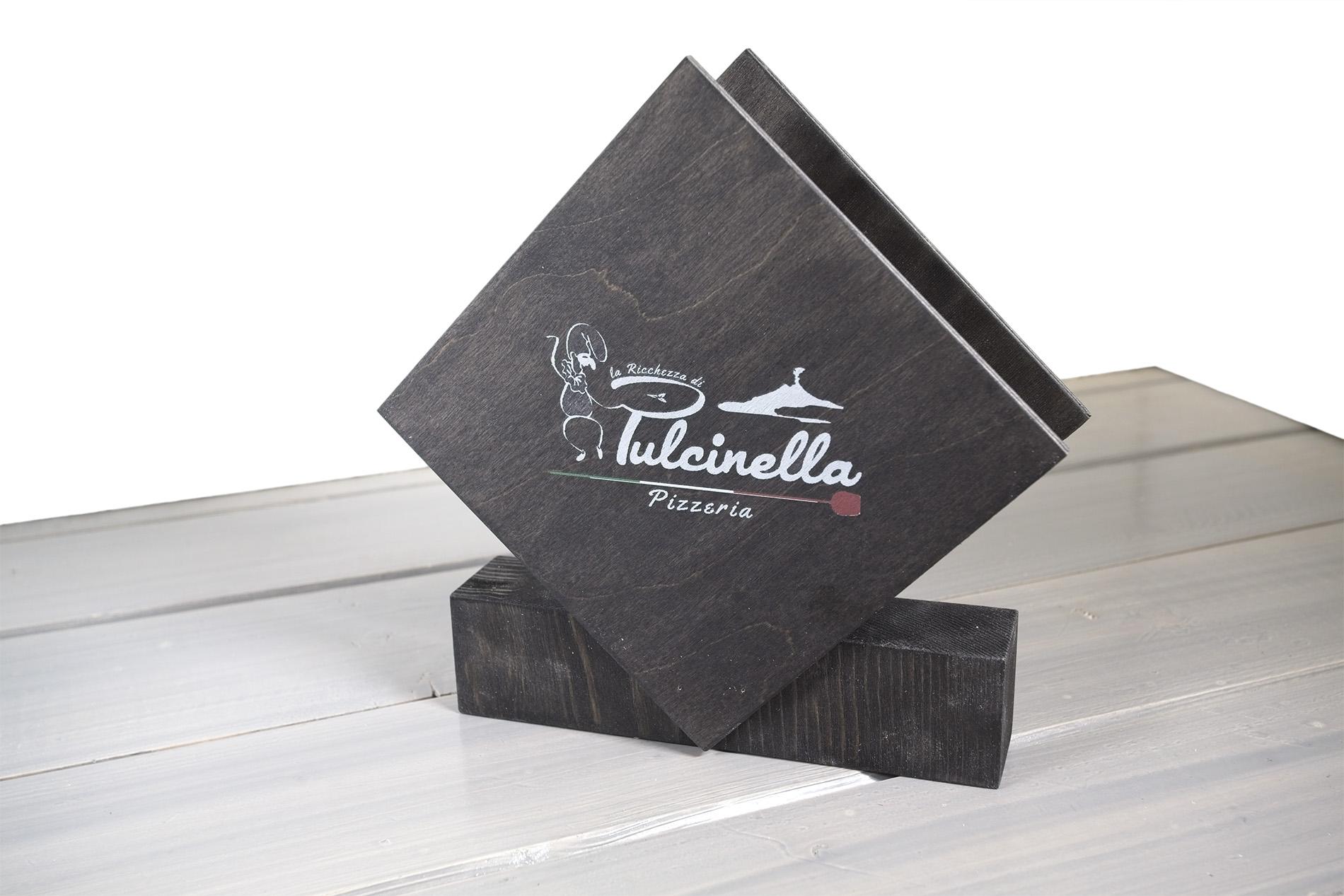 Portatovaglioli Porta Carbone Pizzeria Pulcinella Colore Wengé