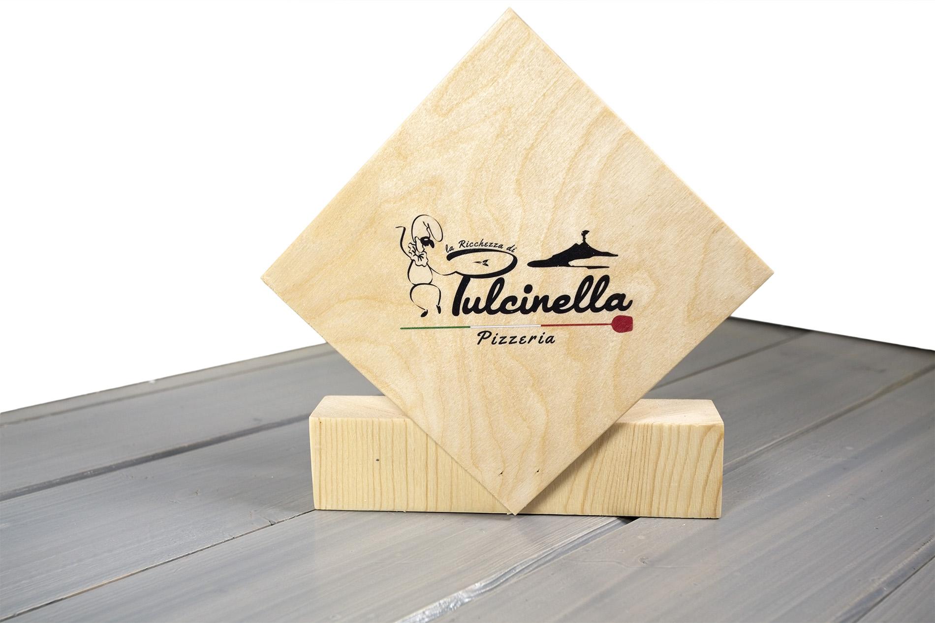 Portatovaglioli Porta Carbone Pizzeria Pulcinella Colore Betulla Naturale