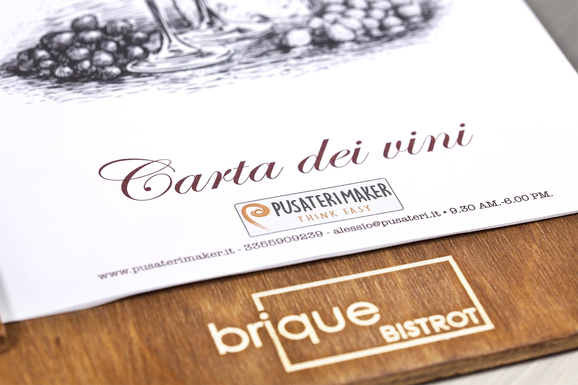 Portamenu Borgo Nuovo Brique Bistrot Carta Dei Vini