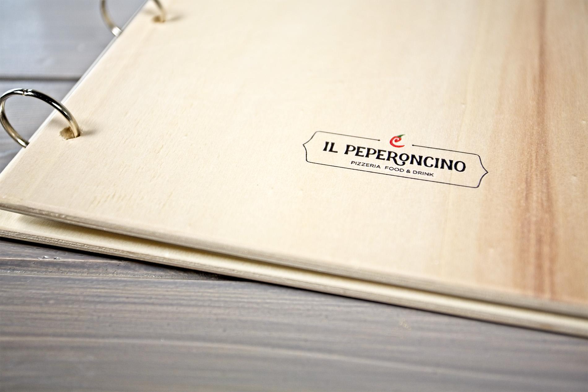 Portamenu Sperone Particolare Logo Il Peperoncino
