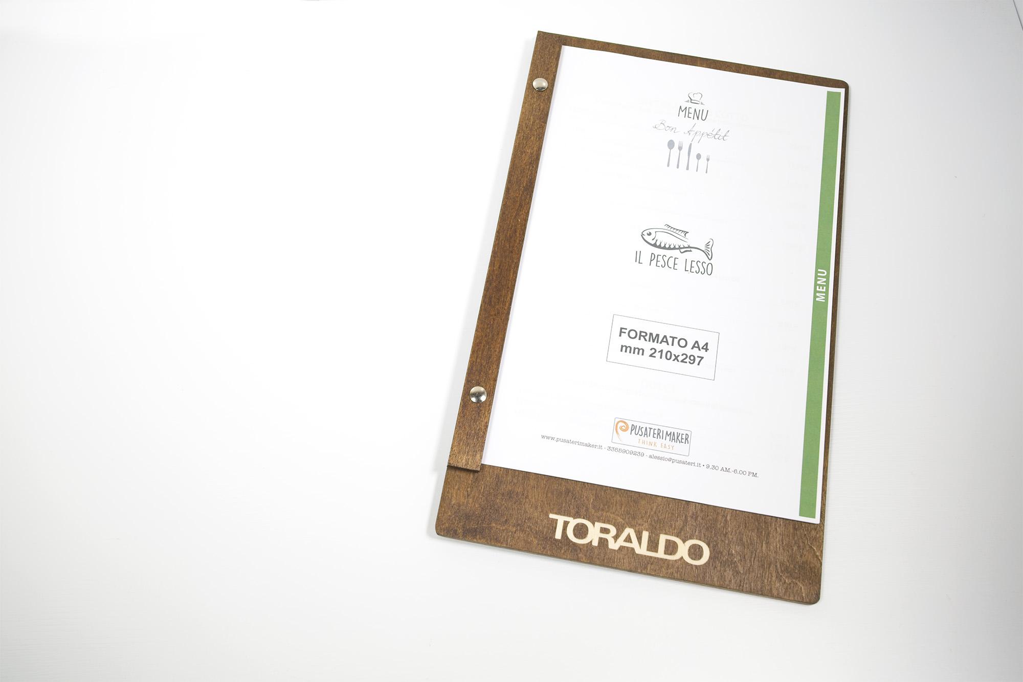Portamenu Borgo Nuovo Caffè Toraldo