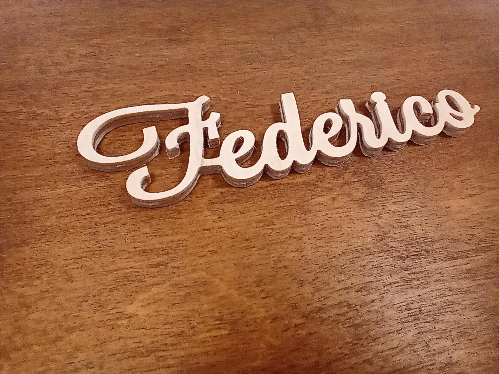 Piccolo Nome Inciso Federico