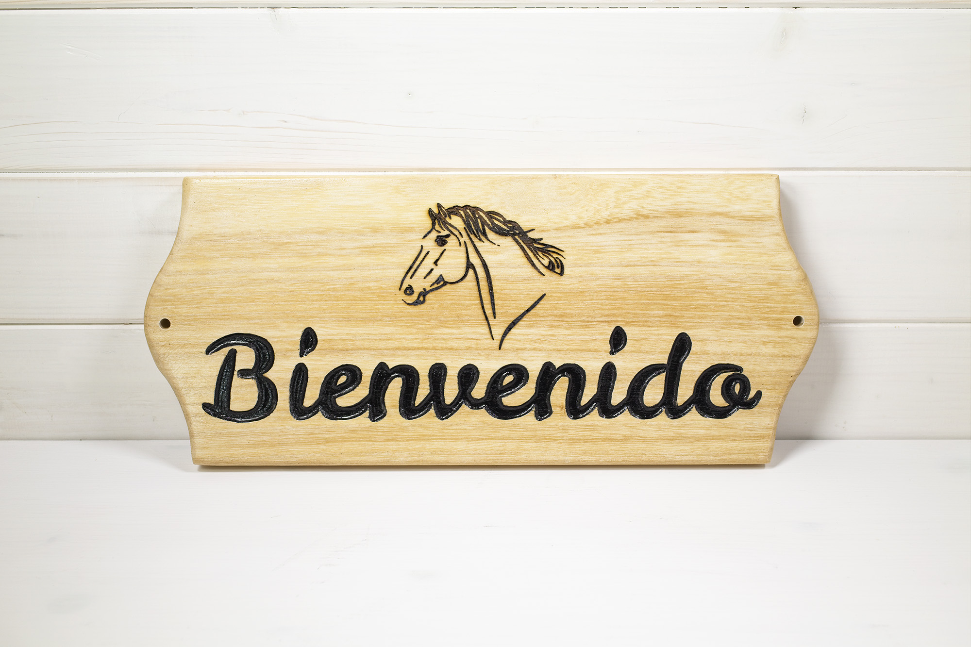 Targa Box Cavallo Zapador Bienvenido