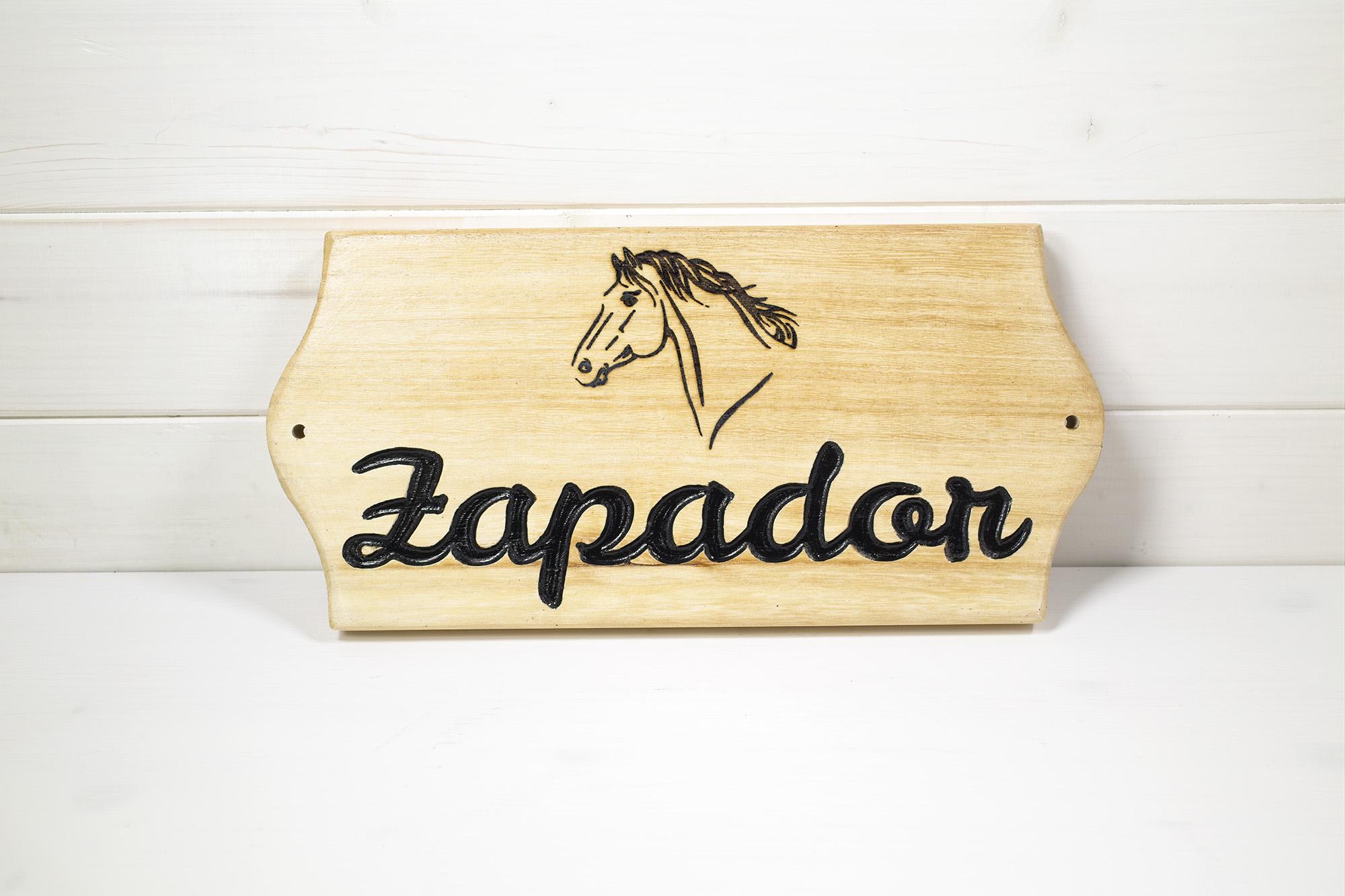 Targa Box Cavallo Zapador