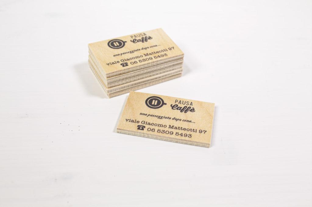 Biglietti da visita in legno Pausa Caffe