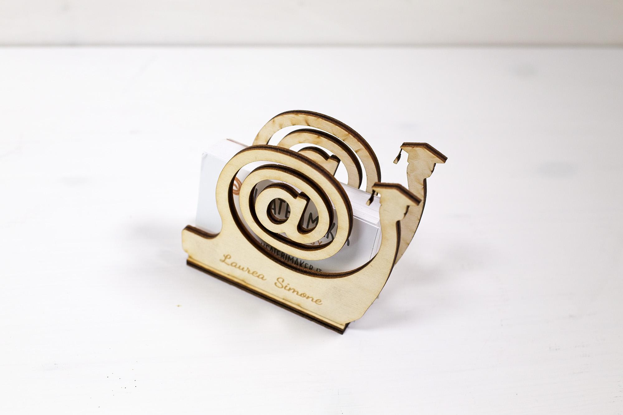 Porta Biglietti Da Visita Lumaca Snail