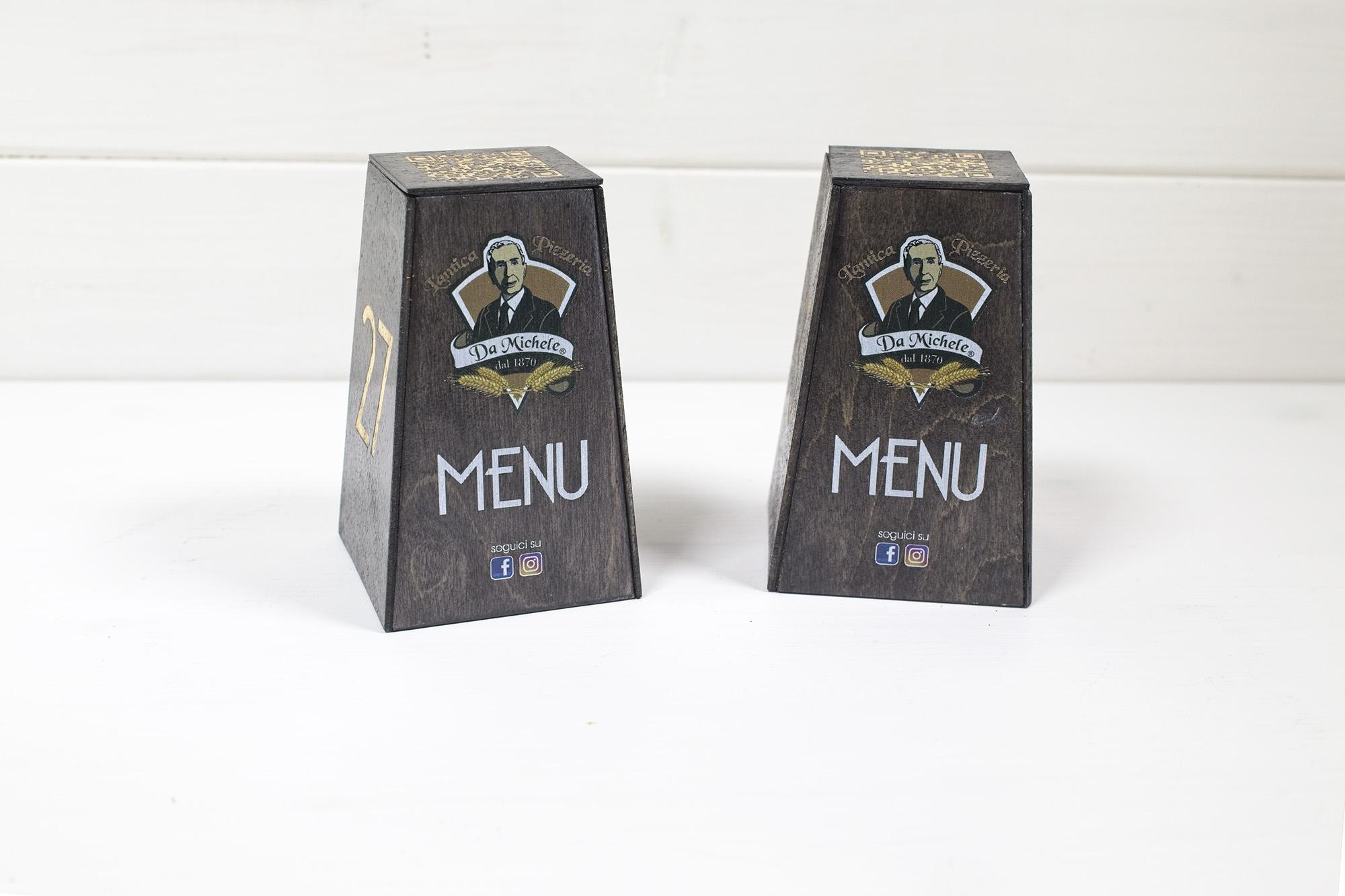 Cuerre QR Menu Pizzeria Da Michele