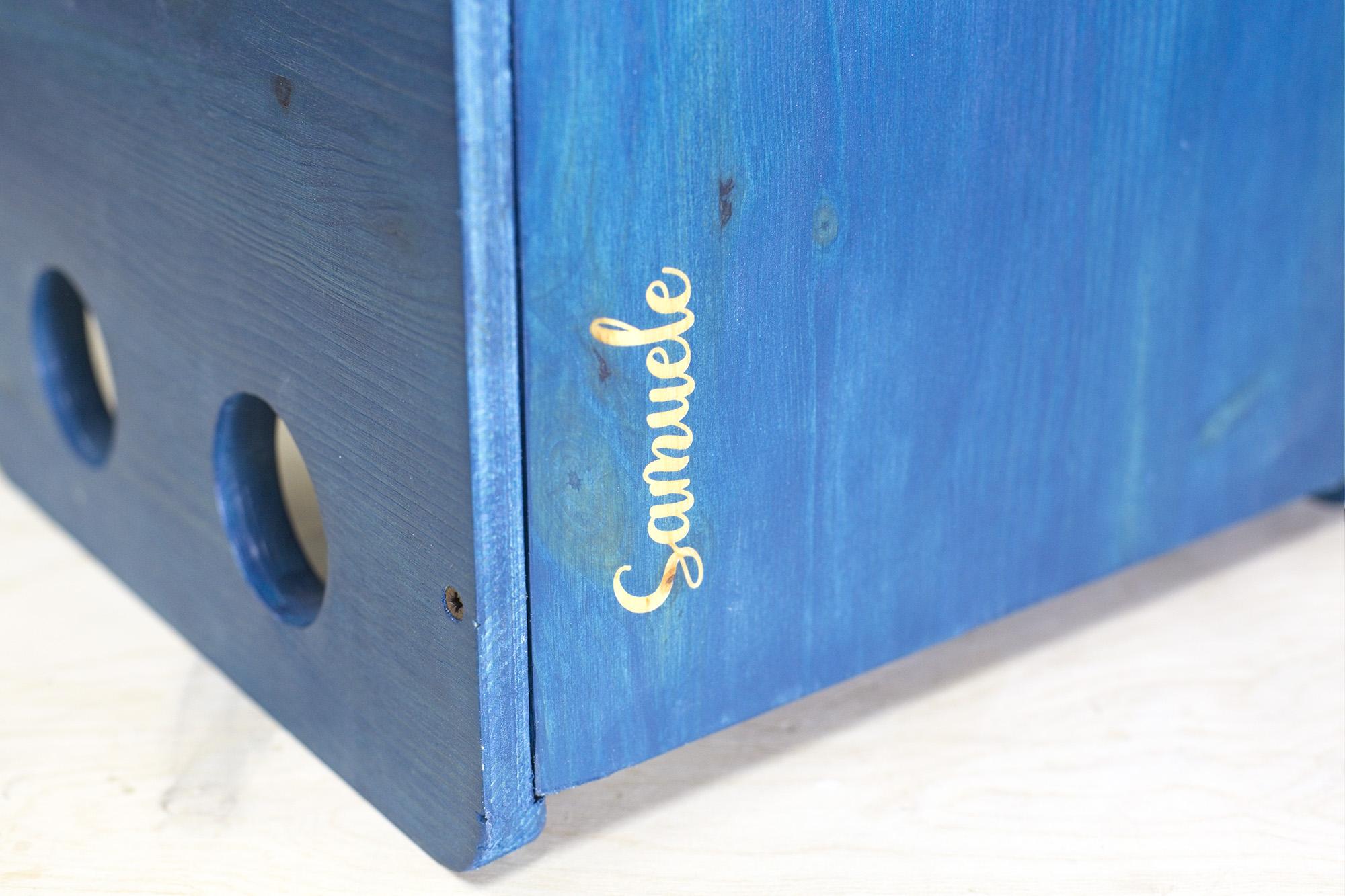 Sedia E Tavolo Cubo Colore Blu