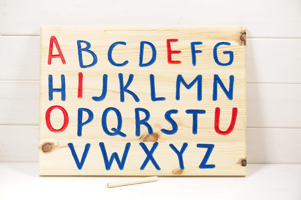 Tracing board - Alfabeto da ricalcare in legno