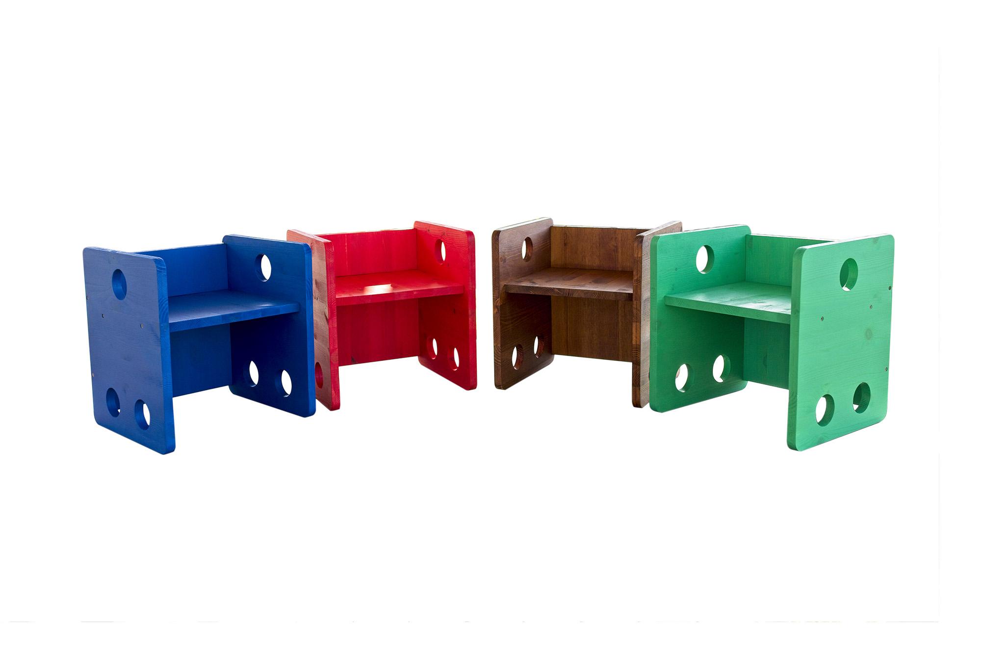 Sedia Cubo Stile Montessori