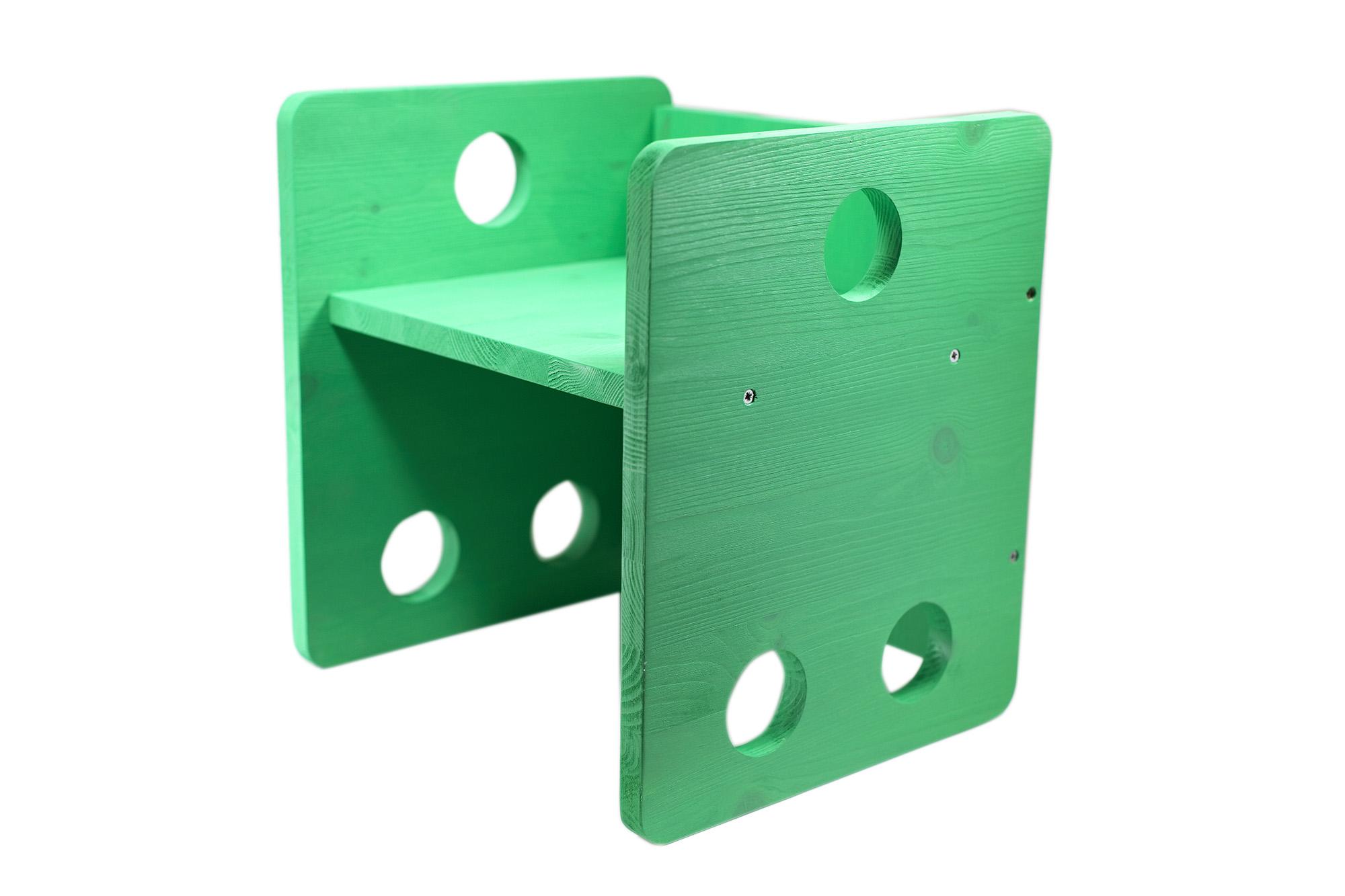 Sedia Cubo Stile Montessori Verde