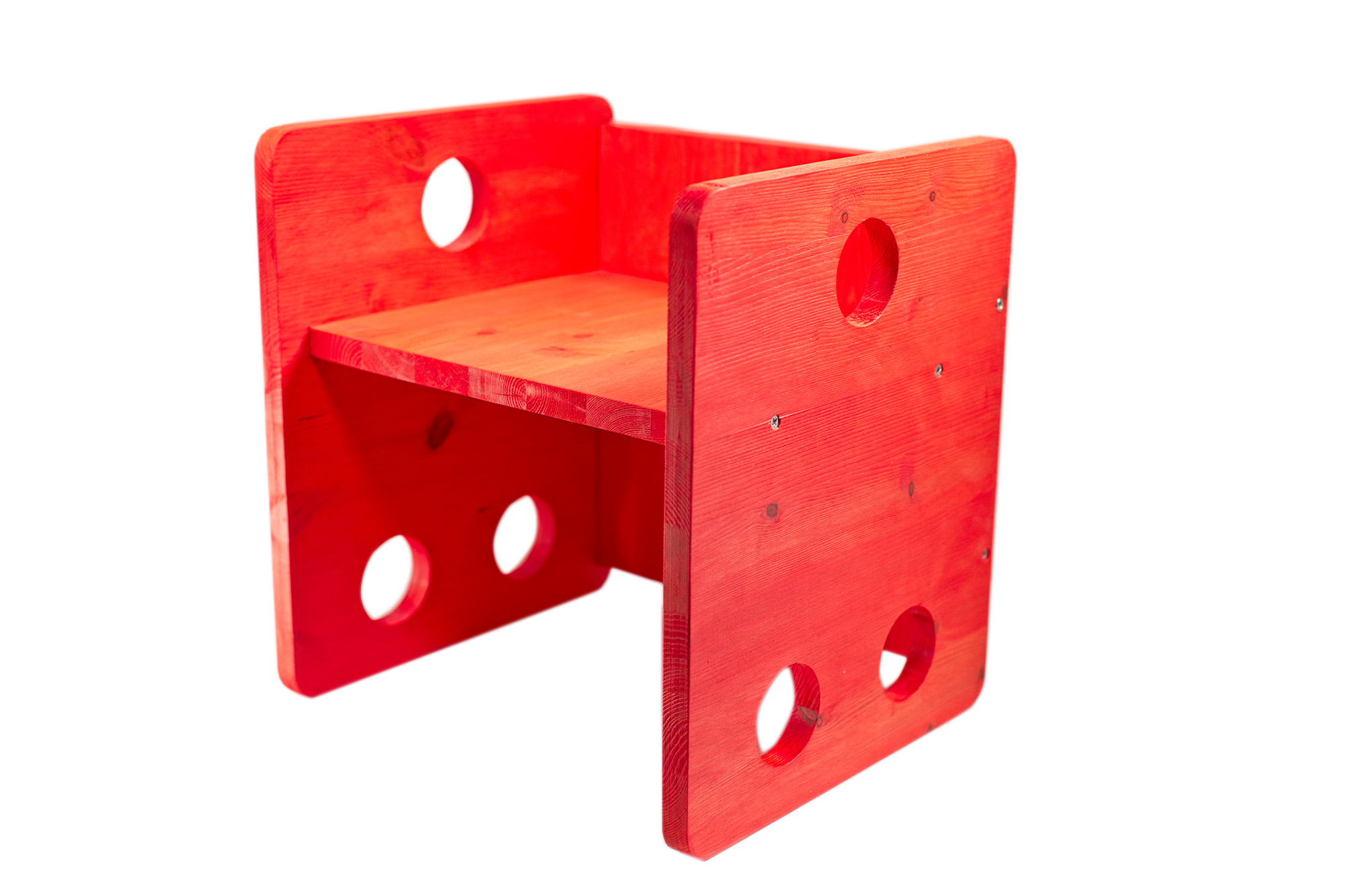 Sedia Cubo Stile Montessori Rosso