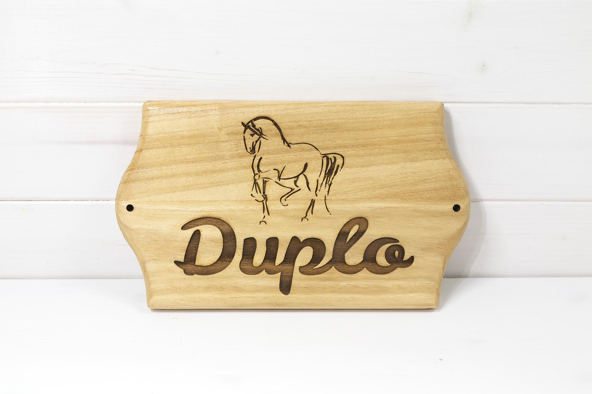 Targa Box Cavalli Duplo