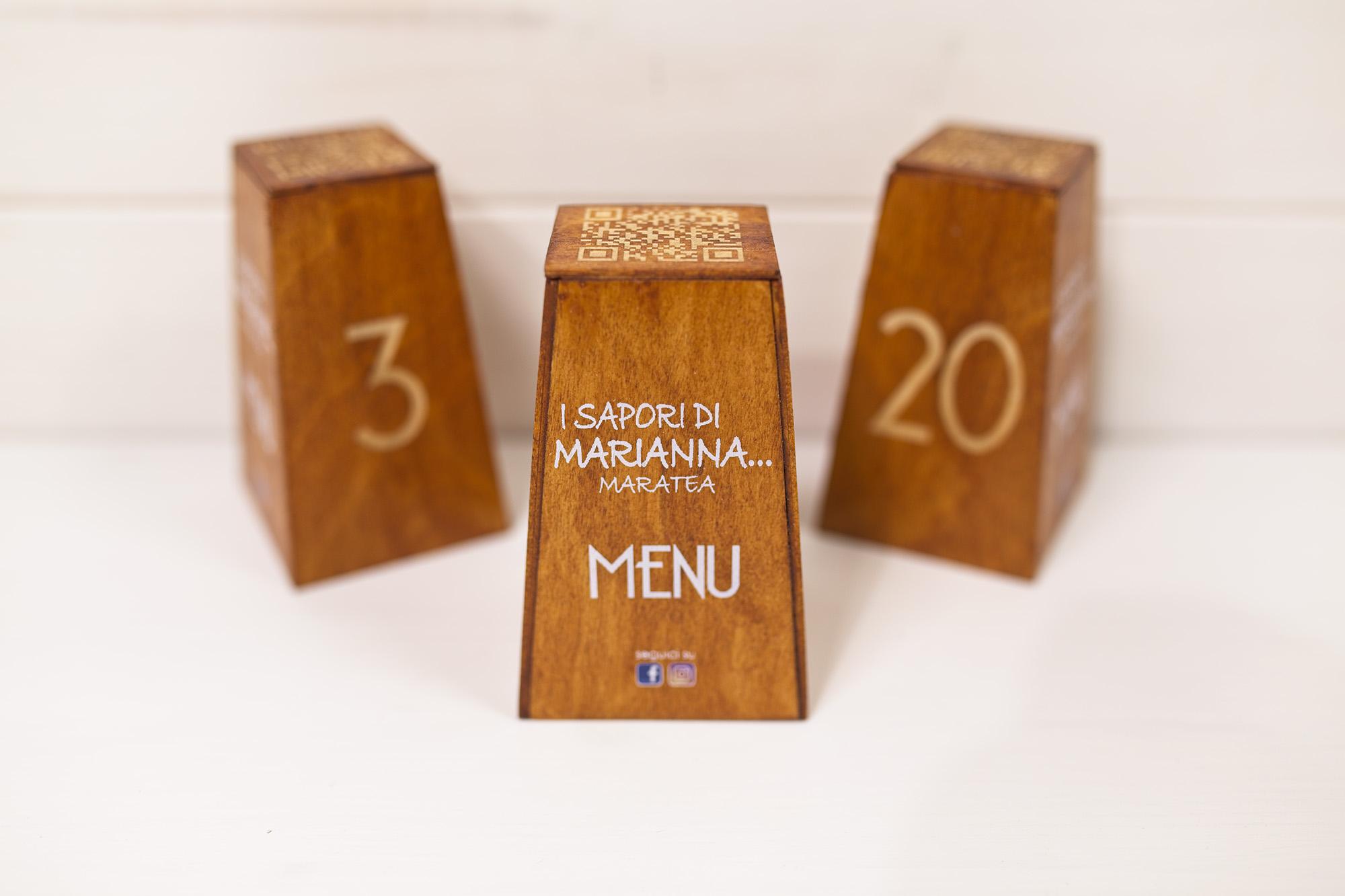 Cuerre - Segnatavolo QR-Menu - I Sapori Di Marianna - Maratea