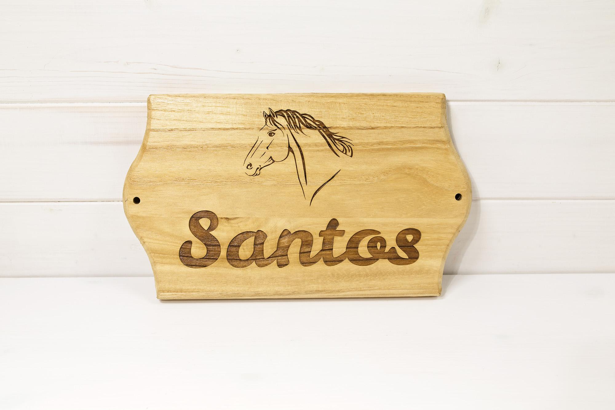 Targa Box Cavallo - Santos