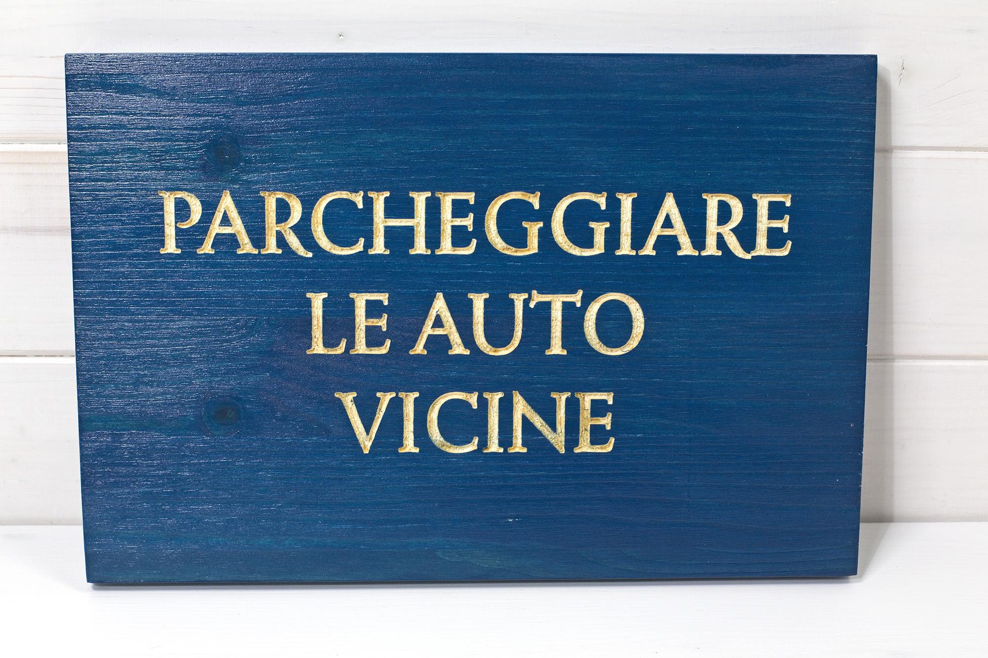 Targhe - Insegne - Bagni Chimera Segnaletica Aziendale In Legno