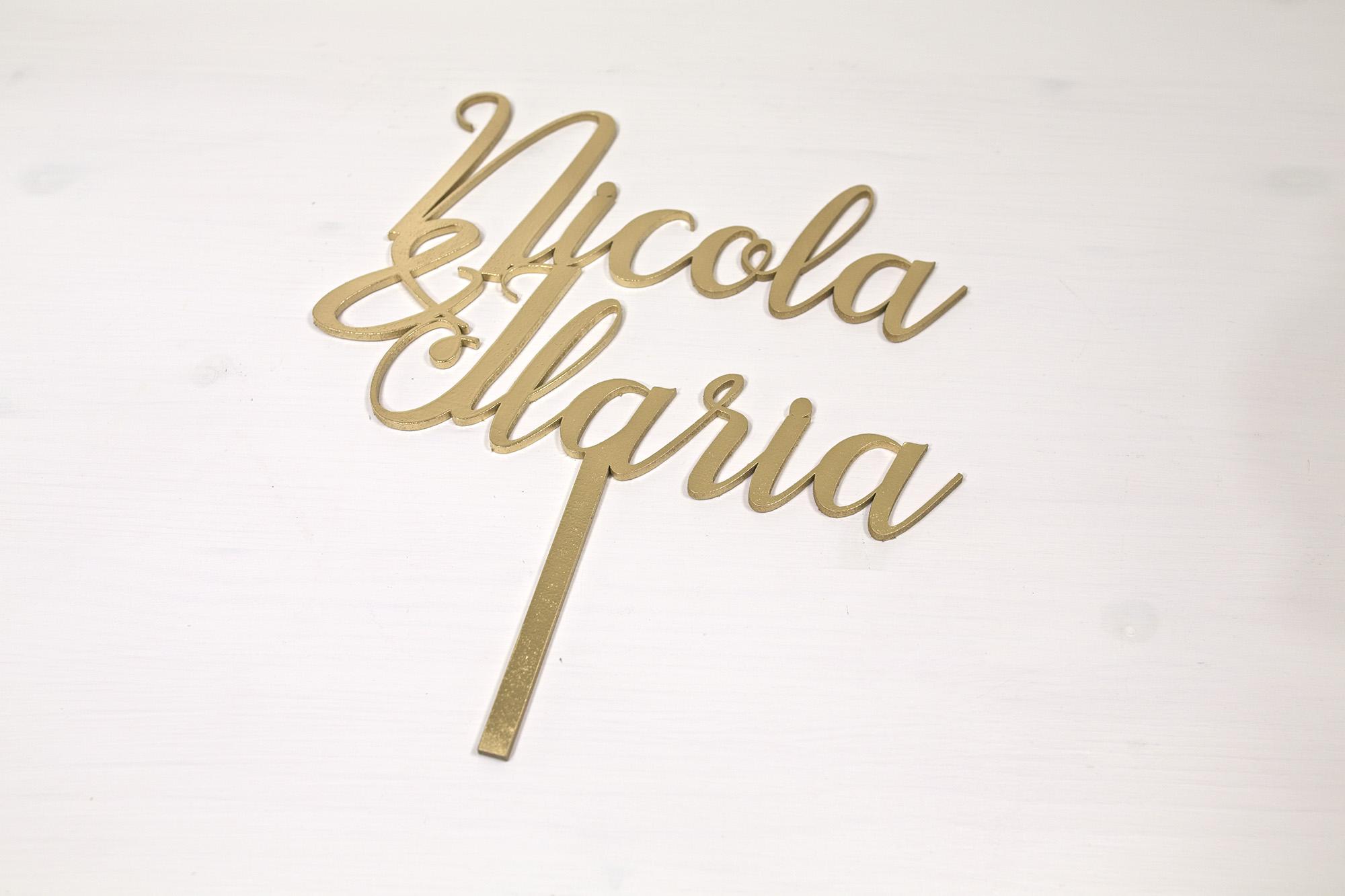 Top Cake Topper - Nicola E Ilaria