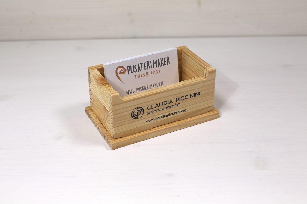Filì - Porta-Biglietti da visita di legno - Claudia Piccinini Organizer