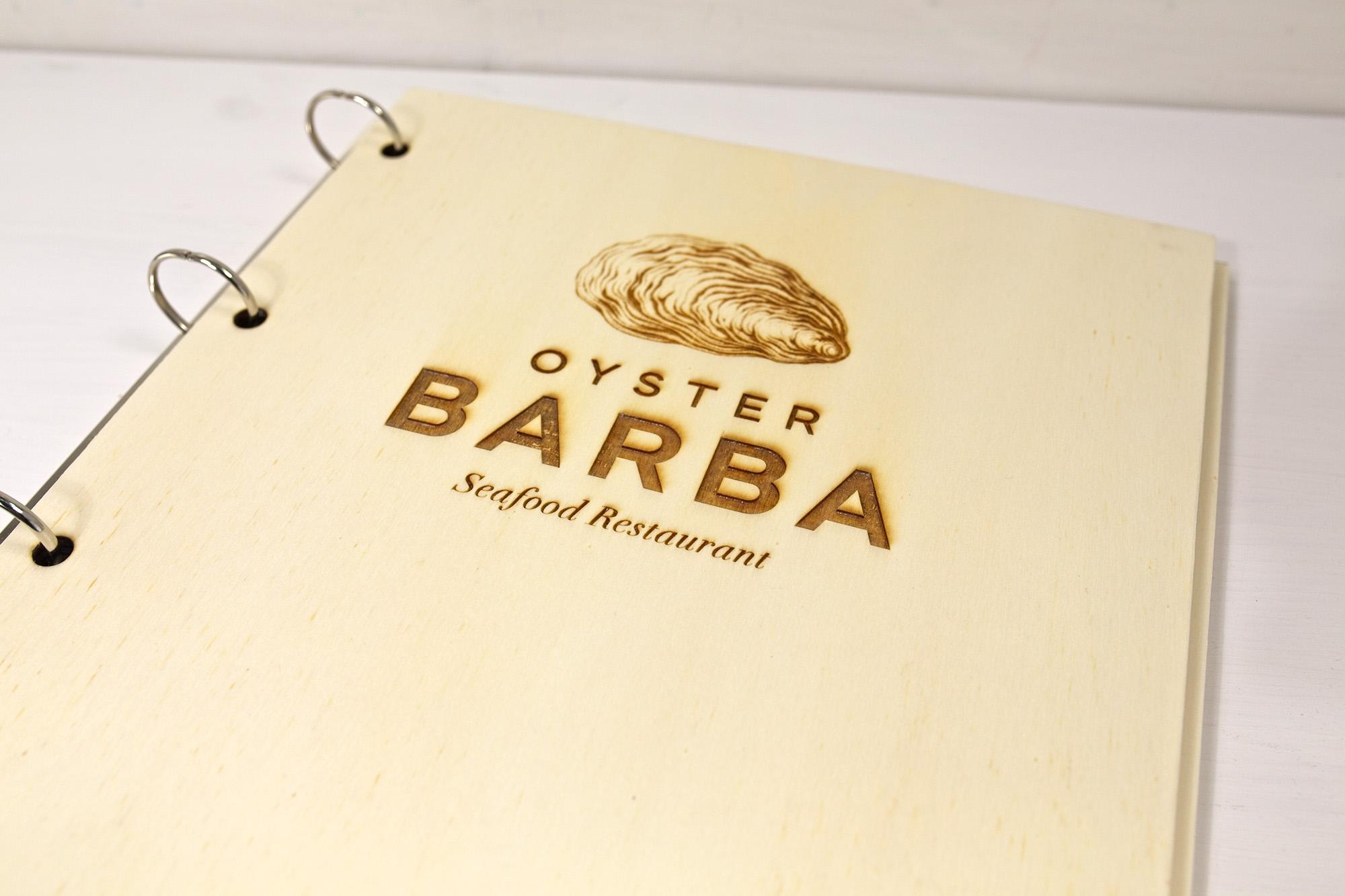 Portamenu Sperone - Oyster Barba
