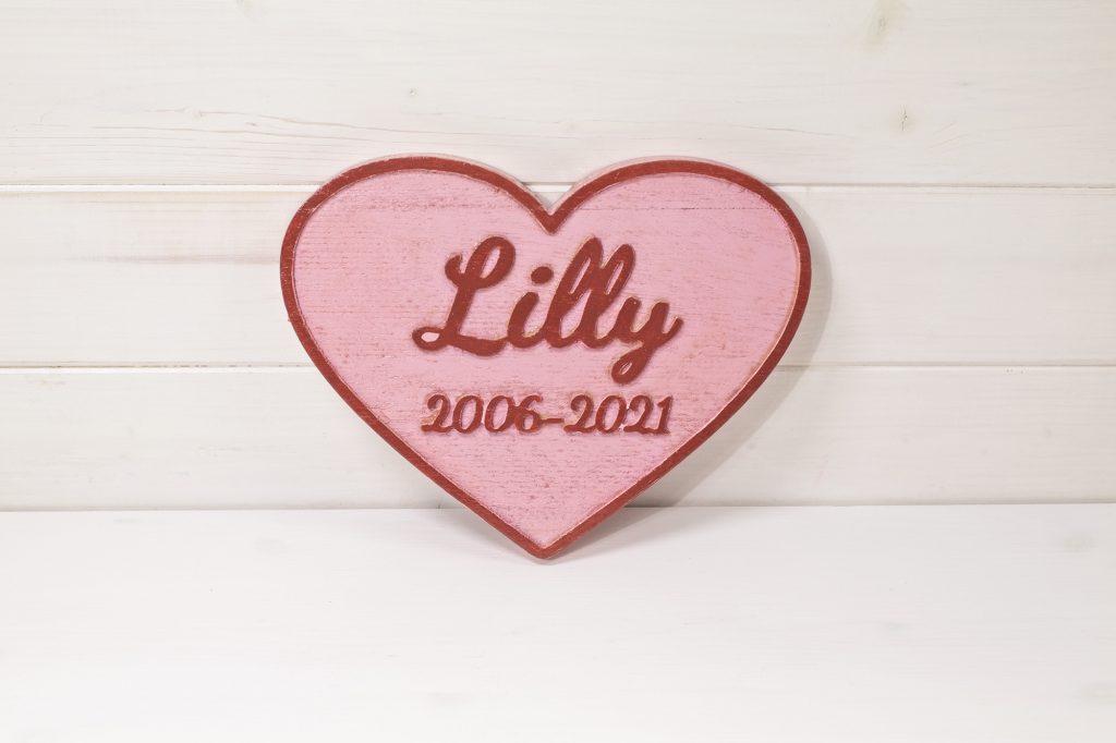 Targa commemorativa cane & gatto cimitero - Lilly