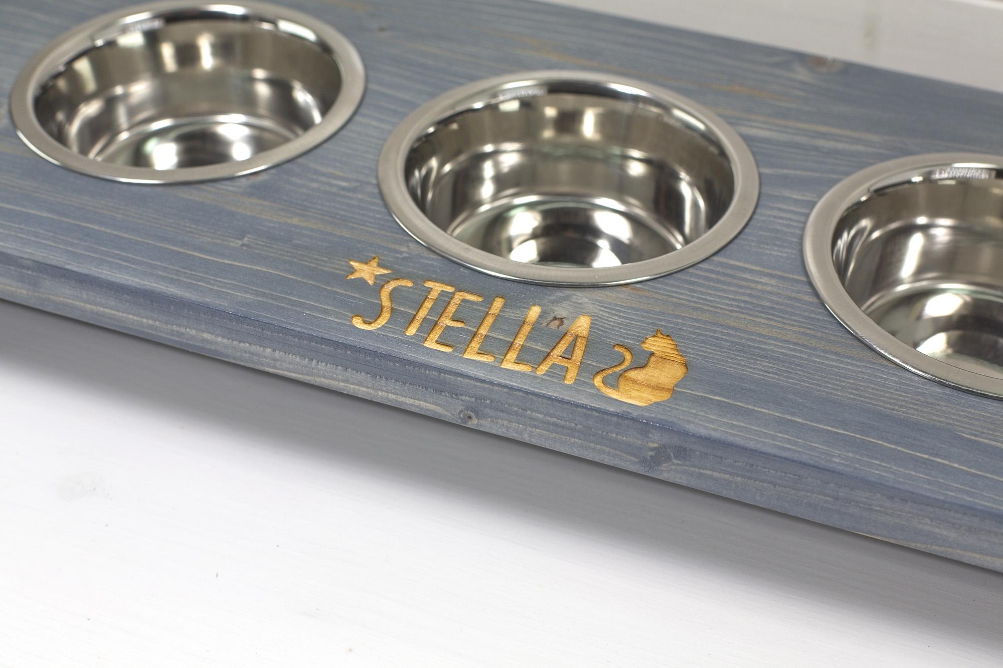 Pirtusa Pi' Jatte - Porta-ciotole Per Gatti - Stella