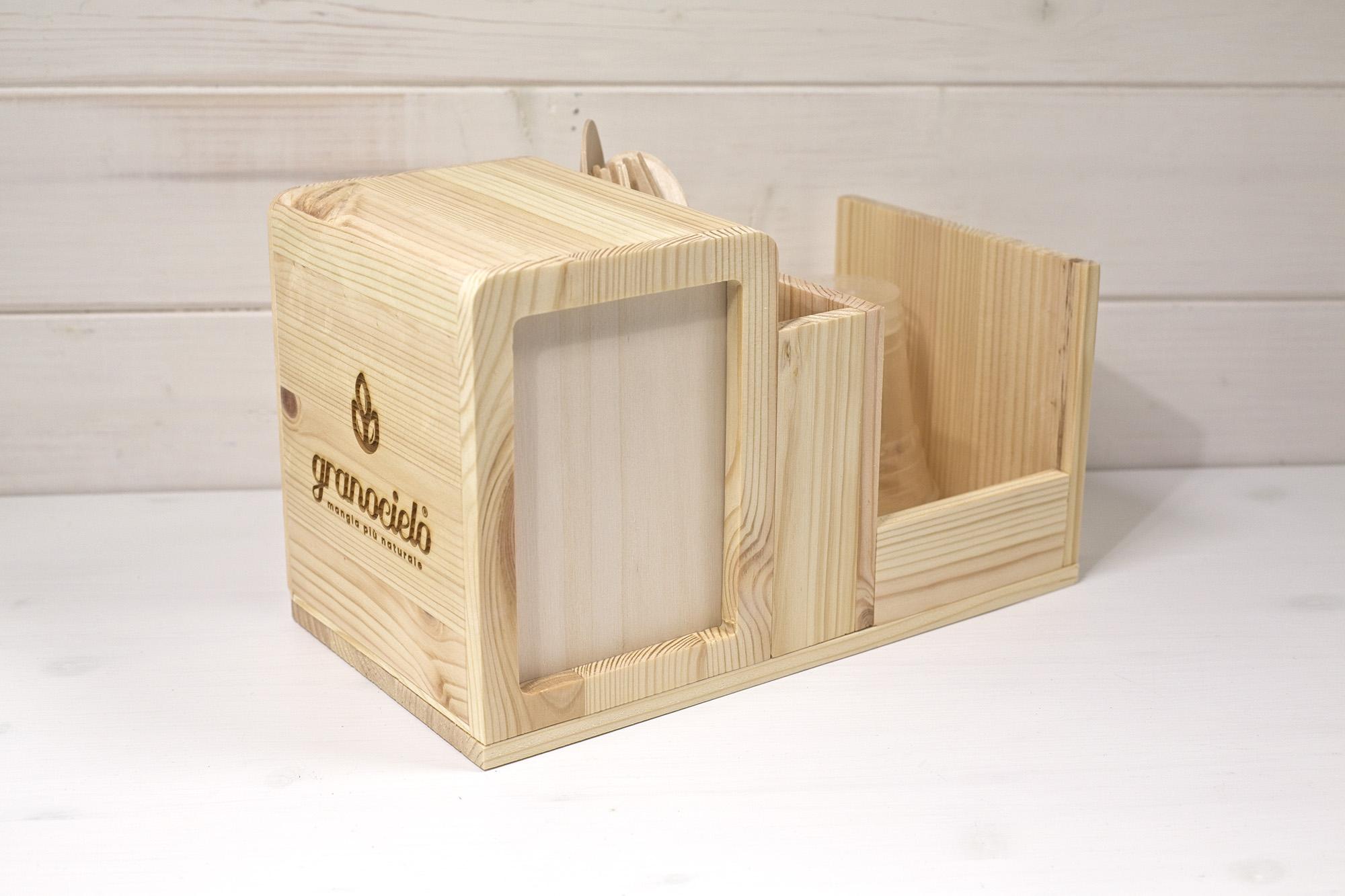 Trittico - Portatovaglioli Porta-posate Porta-bicchieri - Granocielo